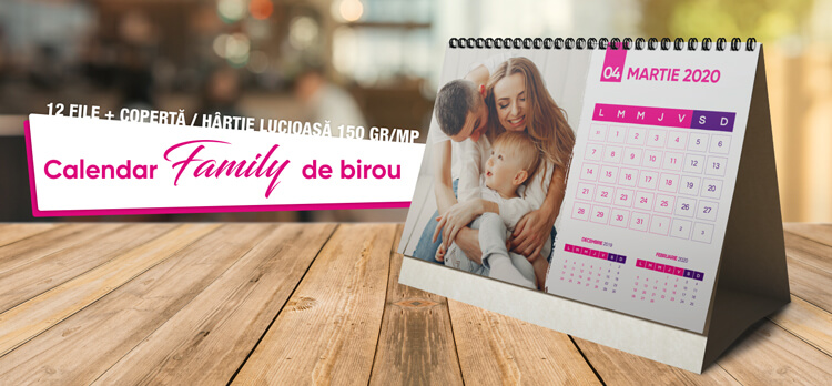 Calendar de birou cu poze