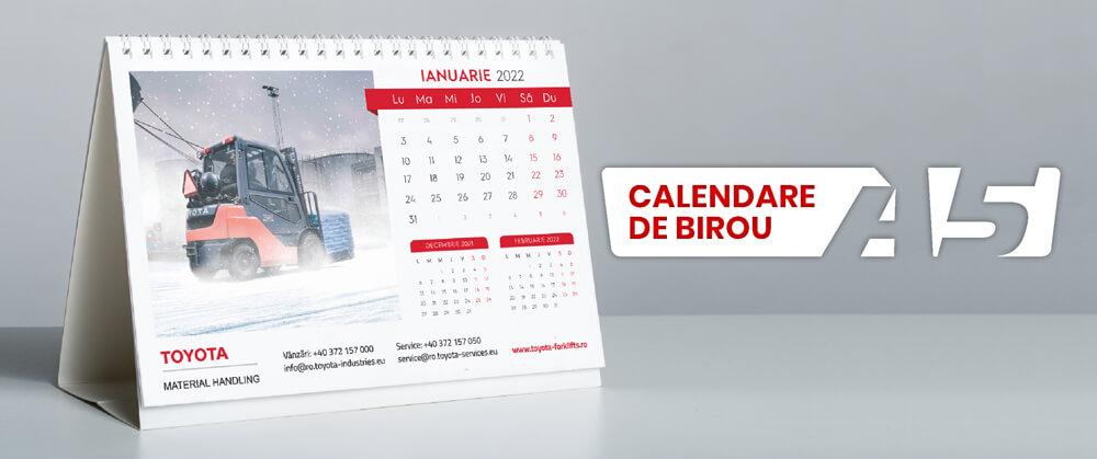 Calendare personalizate A5 de birou