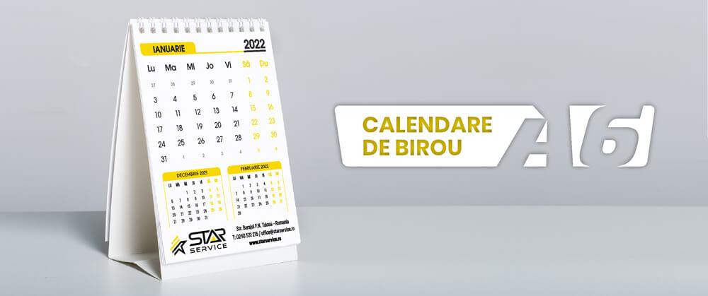 Calendare personalizate A6 de birou