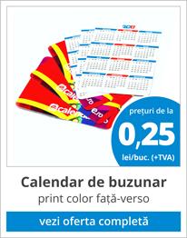 pret calendare de de buzunar